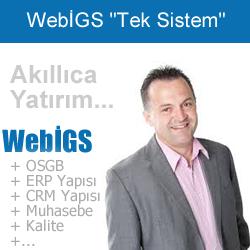 WebİGS İş Güvenlik ve İşyeri Sağlık Yazılımı